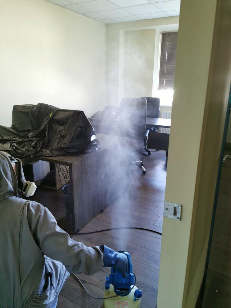 Patalpų dezinfekcija nuo COVID