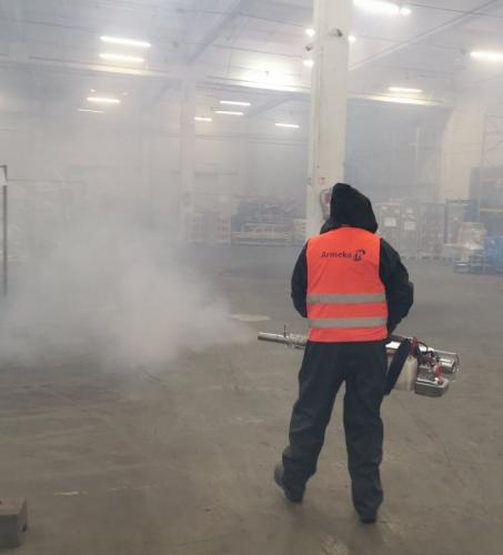 Dezinfekavimas šalto rūko generatoriumi